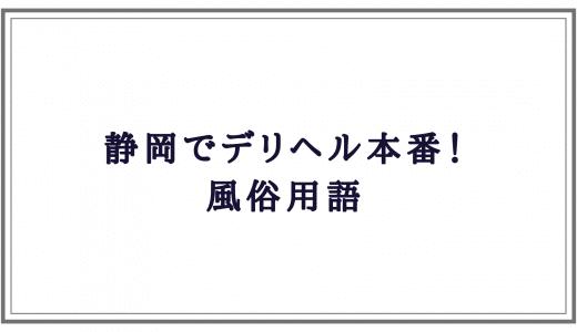 静岡デリヘル本番! 風俗用語